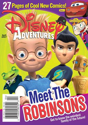 File:Disney Adventures Magazine cover April 2007 Meet the Robinsons.jpg