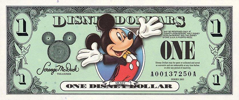 Resultado de imagen para mickey mouse dollar