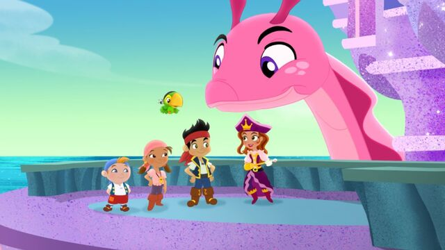 File:Jake&crew with Pirate Princess &Cecilia-Trading Treasures.jpg