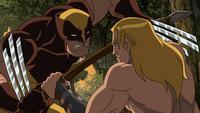 Ka-Zar vs Wolverine