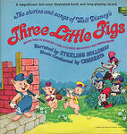 Walt+Disney+-+The+Stories+And+Songs+Of+Walt+Disney's+Three+Little+Pigs+-+LP+RECORD-287158
