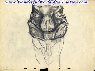 File:Drawing of T-rex face.jpg