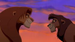 Simba discovers that Kovu is good