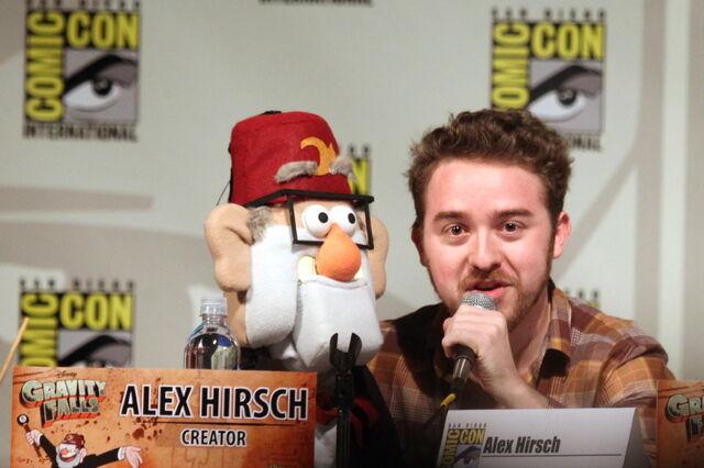 File:Alex Hirsch with Grunkle Stan Puppet.jpg