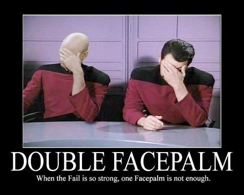 Image result for double face palm