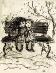 Young Anna and Elsa Concept Art