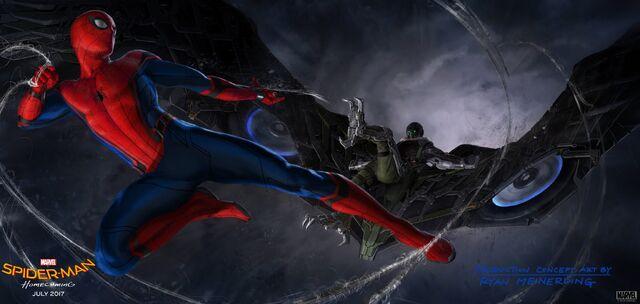 File:Spider-Man Homecoming Vulture Battle Concept Art.jpg
