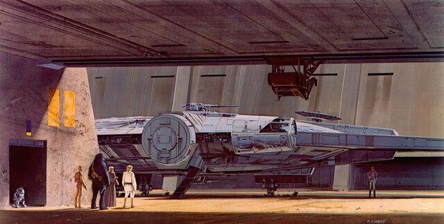 File:Concept Art of the Millennium Falcon.jpg
