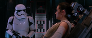 Rey mind tricks the First Order Stormtrooper