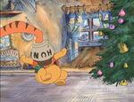 Tigger knocks on the honeypot Pooh Bear's stuck in