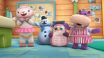 Lambie, chilly, professor hootsburgh and hallie