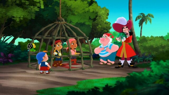 File:Jake& crew with Hook &Smee- The Emerald Coconut.jpg