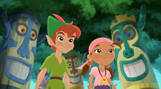 File:Peter&Izzy&Peter Pan returns.jpg