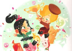 Vanellope and Rancis in One Sweet Race
