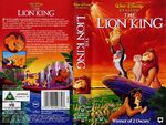 THE LION KING VHS UK 1995