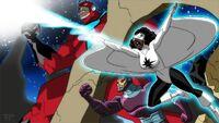 Antman,Captain marvel,Robot man