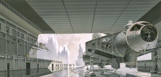 File:Early Concept Art of the Millennium Falcon.jpg