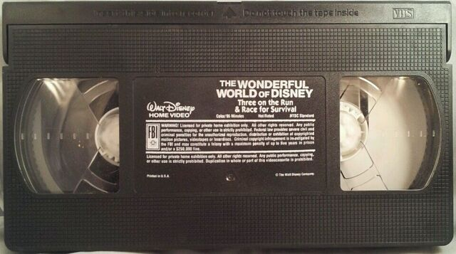 File:Wonderful World of Disney - Three on the Run-Race for Survival VHS - Tape.JPG