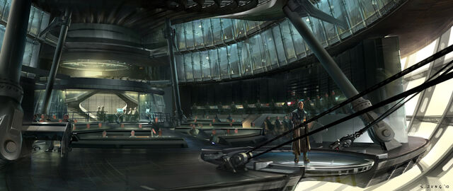 File:Nick Fury aboard the Hellicarrier Concept Art.jpg