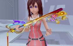 Kairi holding keyblade