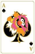 Disney pin playing cards animal