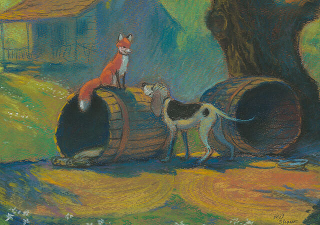 File:The Fox and the Hound - Copper and Tod Concept by Mel Shaw - 1.jpg