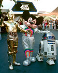 Mickey C3PO and R2-D2