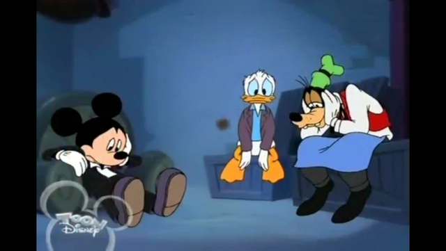 File:Mickey Donald and Goofy looking sad.PNG