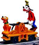 Goofy pluto handcar