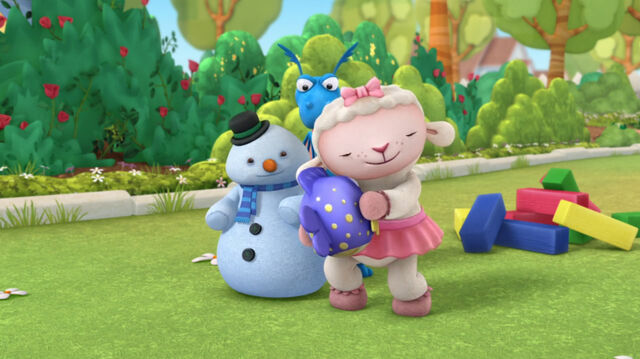 File:Lambie, stuffy, chilly and squeakers.jpg