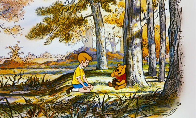 File:Winnie the Pooh and Christopher Robin are both at the enchanted place.jpg