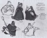 Maid Marion and Lady Cluck concept art