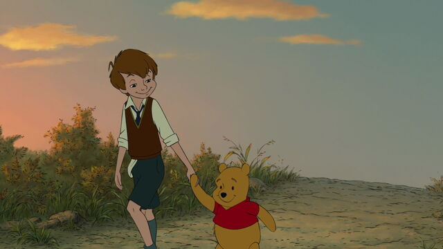 File:Winnie the Pooh and Christopher Robin are both going off together as best friends.jpg