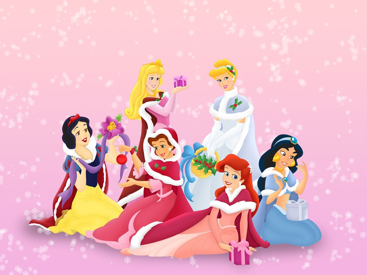Image - Disney-princess-christmas-wallpaperdisney-princesses ...