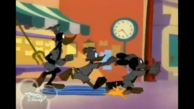 File:Mickey Donald and Goofy fleeing from angry crowd.PNG