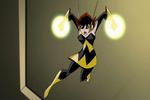 Really angry wasp