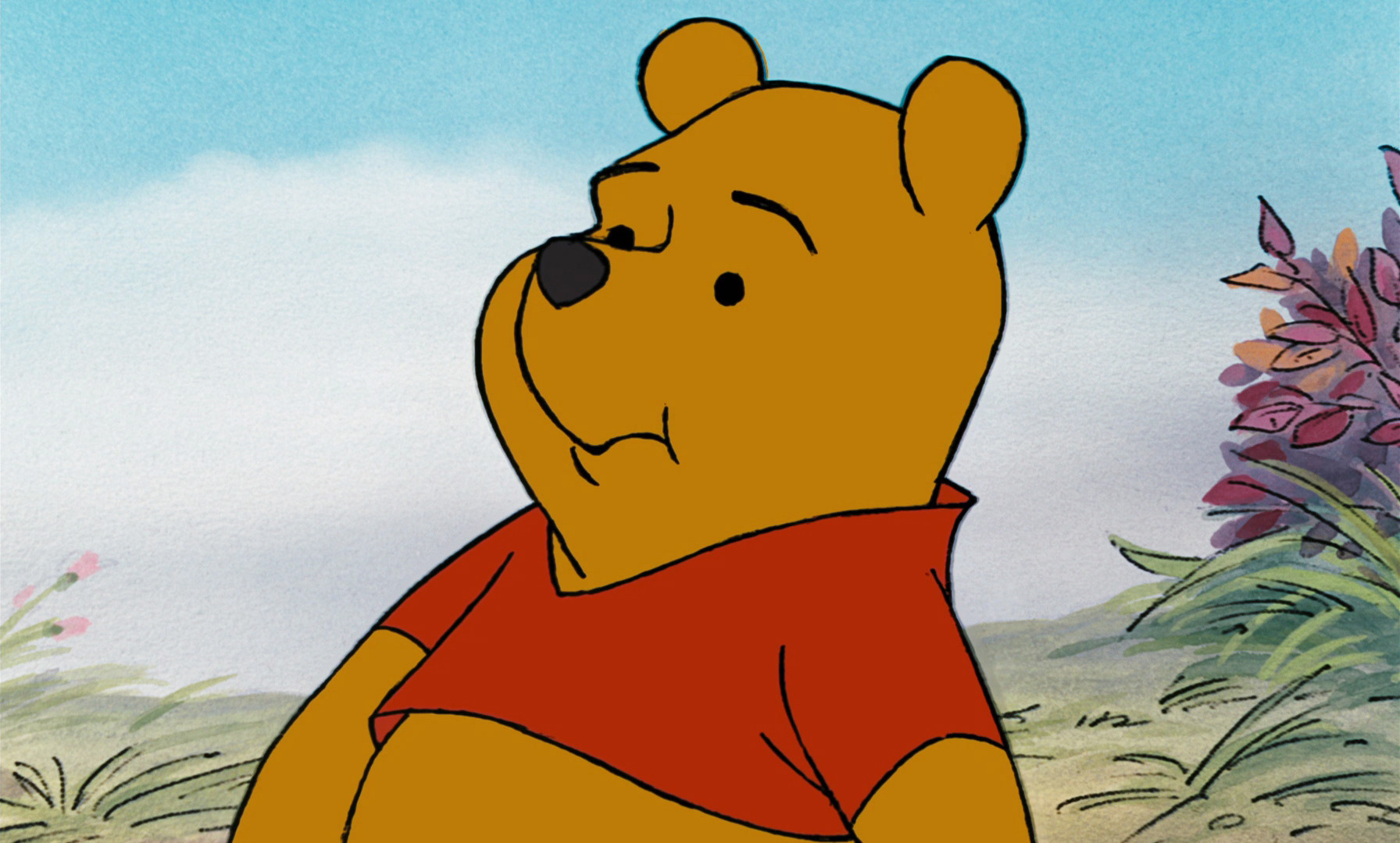 Image Winnie The Pooh Is Telling Tigger Rabbit Is Lost