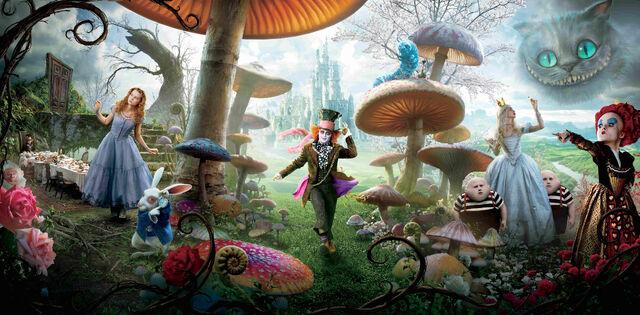 File:Alice in Wonderland Textless Banner.jpg