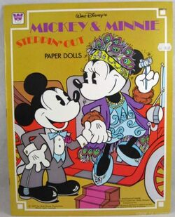 Mickey & minnie steppin out paper dolls