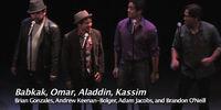 Babkak, Omar, Aladdin, Kassim