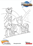 Miles from Tomorrowland colouring pages 3