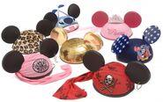 Variations of mickey hats