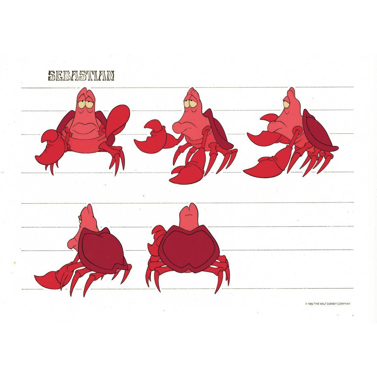Sebastian Production Model Little Mermaid
