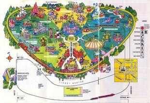 Disneyland 1980 map