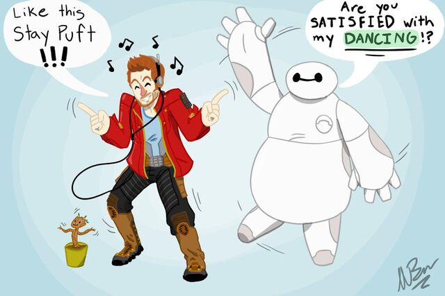 File:Starlord and baymax dancing jame s commission by gingerbaribuu-d8jay87.jpg