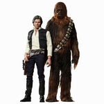 Han Solo And Chewbacca Hot Figures