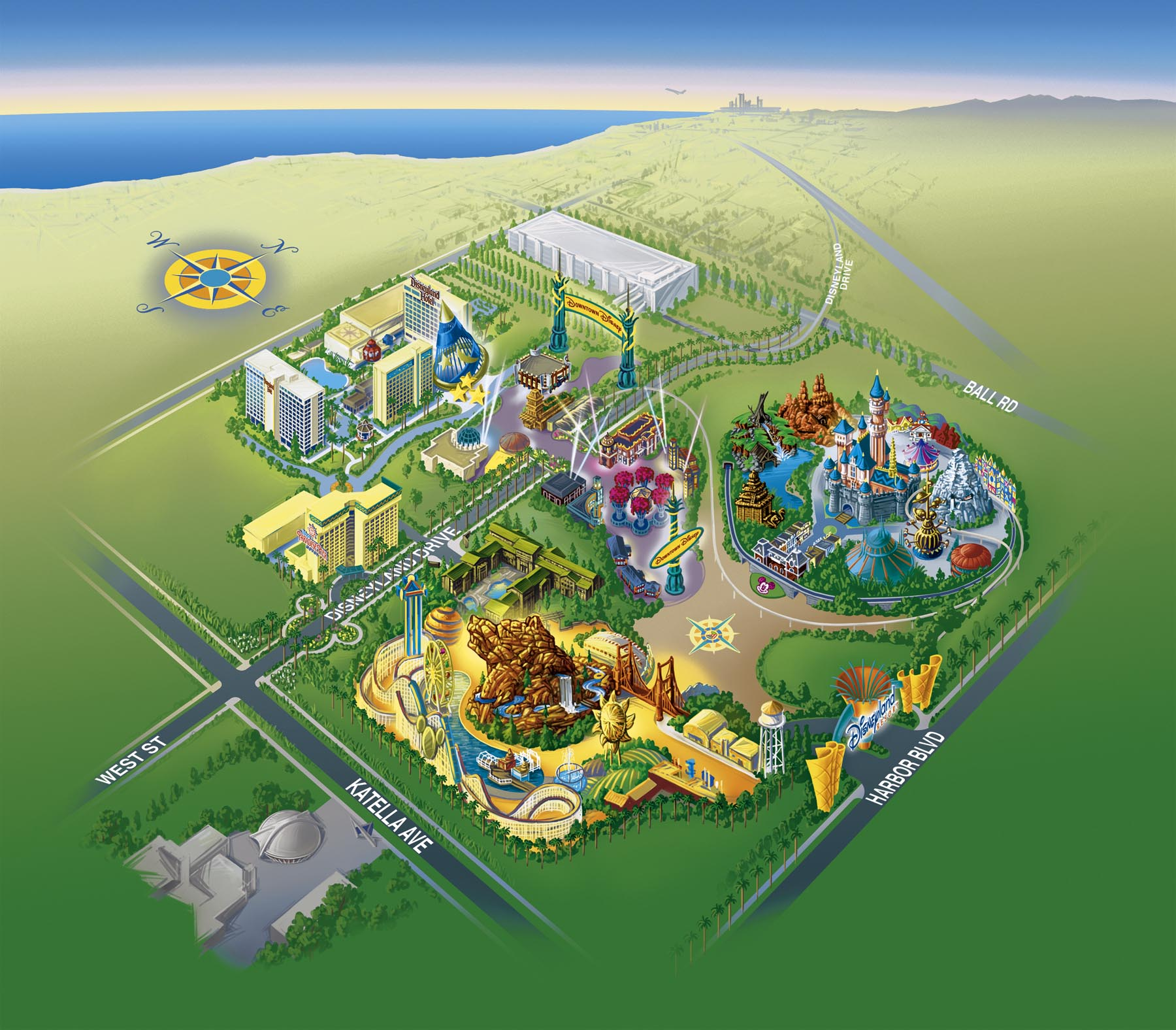 Great America Six Flags Great America Theme Park Map Theme Parks - Map us parks