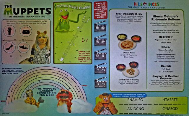 File:Kids menu - Mama Melrose's Ristorante Italiano.jpg