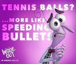 Tennis Balls More like Speeding Bullets