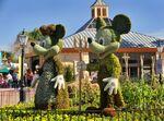 Mickey Minnie Topiary